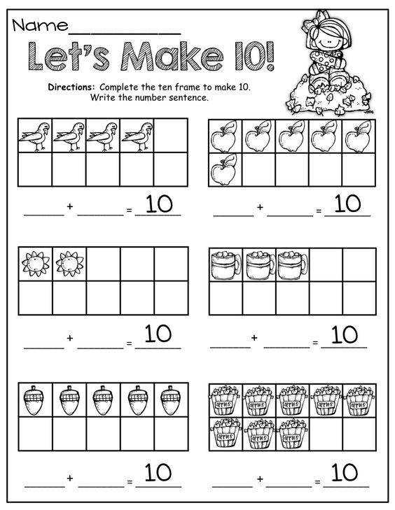 Number Names Worksheets ten frame activities for first grade Pinterest • The world s catalog of