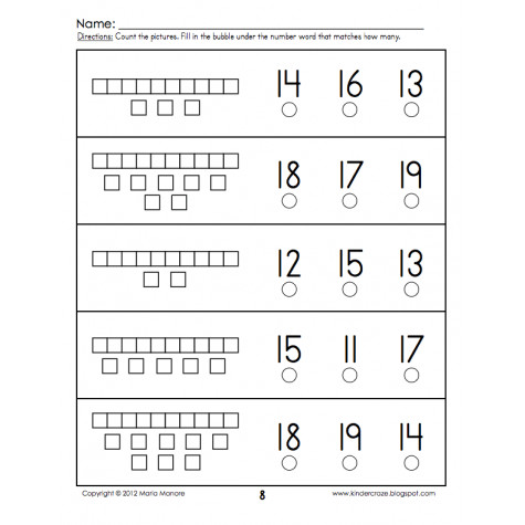 Base 10 Worksheets Tens and es for Numbers 11 19 3
