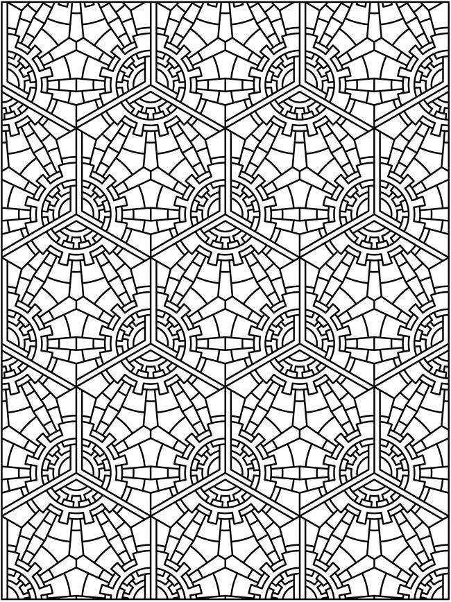 tessellations worksheets to color