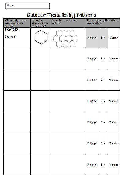 Tessellations Worksheets Math Skill Builder