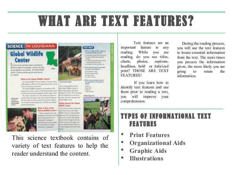 17 Best ideas about Nonfiction Text Features on Pinterest