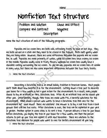 Best Solutions of Text Structure Worksheets For Free