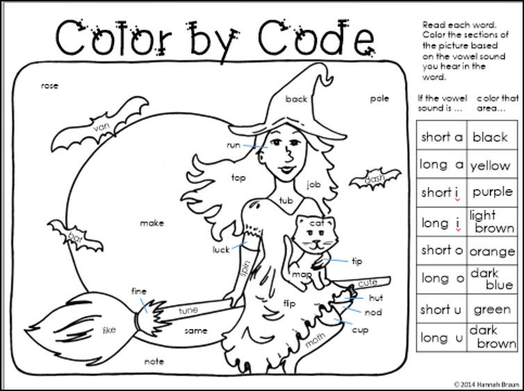 Coloring For Kids First Grade Phonics Coloring Worksheets Colornumber Phonics Worksheets With Grade Thanksgiving Reading