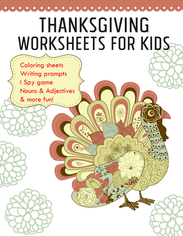 thanksgiving worksheets printable activities for kids