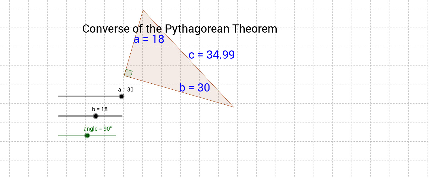 Use this worksheet to determine if the Converse of the Pythagorean Theorem is indeed true