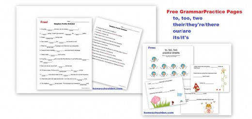 Free Homophone Practice Worksheet to two too there they re their etc