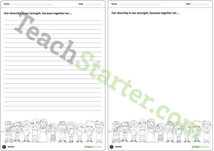 Harmony Day Theme Worksheet