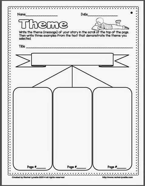 Brilliant Ideas of Identifying Theme Worksheets 3rd Grade With Letter Template