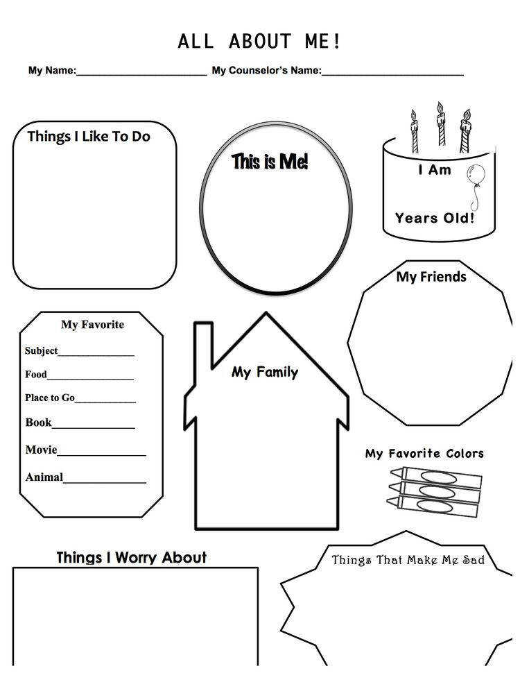 This is a worksheet designed to be used in a first therapy session with a child