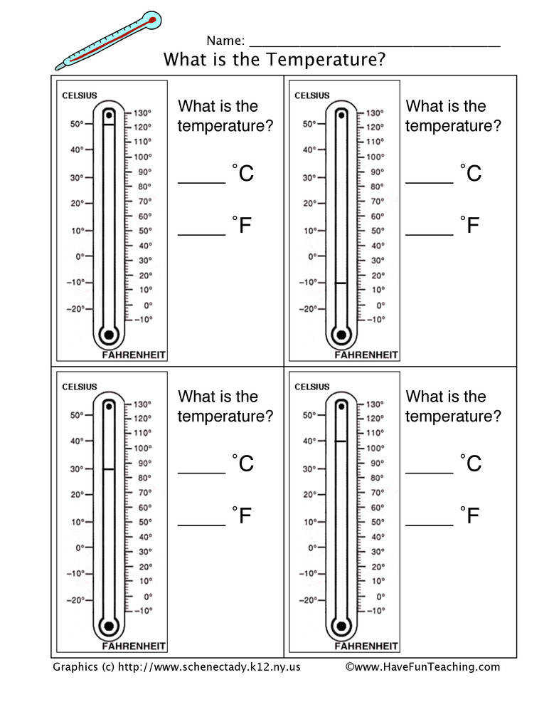 Thermometer Worksheets Homeschooldressage Com