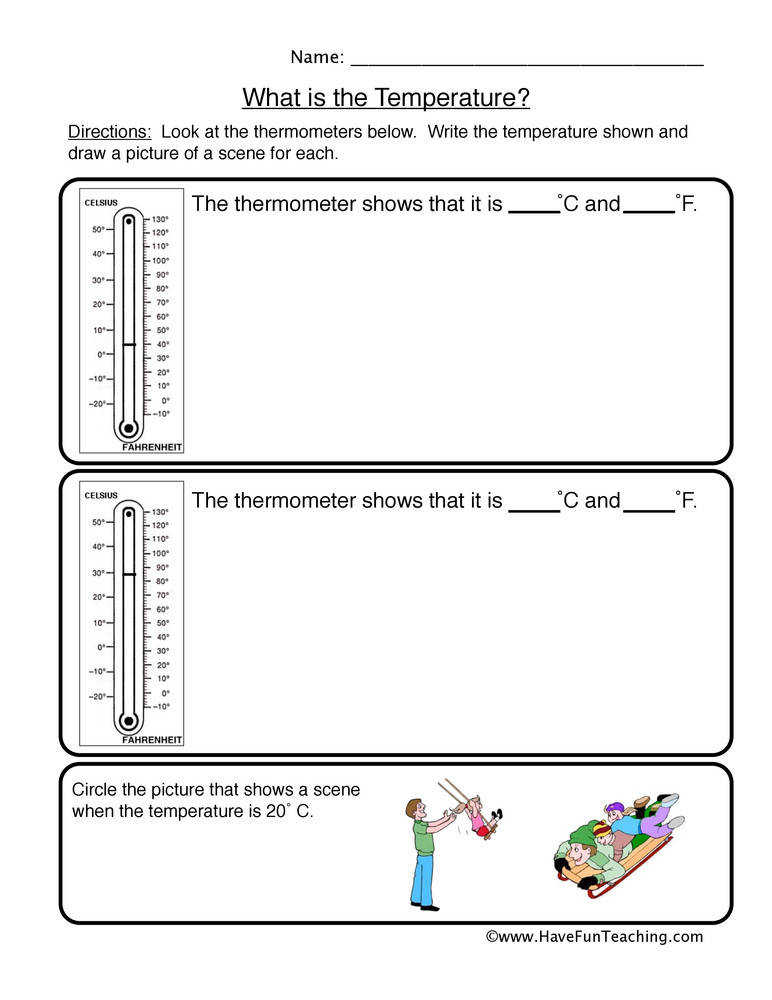 Thermometer Worksheets Homeschooldressage
