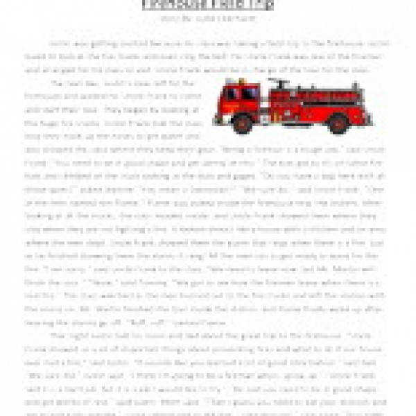 firehouse field trip third grade reading prehension worksheet