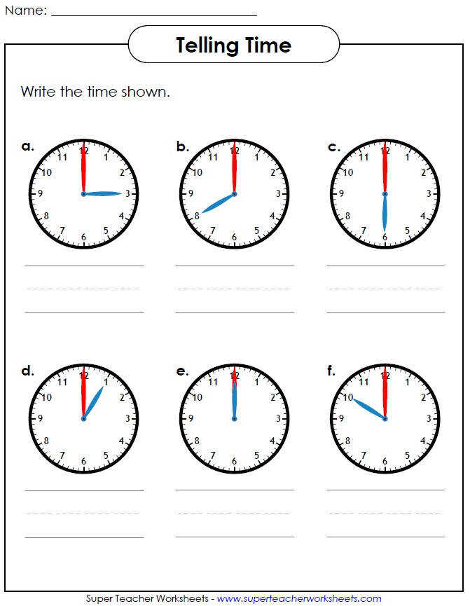 Students can write the numbers draw the clock hands cut and glue and even play games to learn how to tell time Visit our Time Worksheets page to view