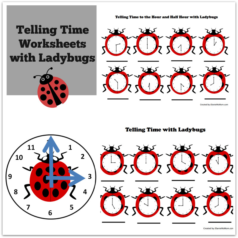 It s about time I created some telling time worksheets for you All this week I have been sharing insect and bug themed printables and activities