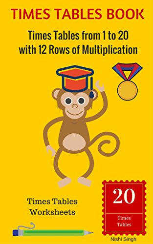 TIMES TABLES BOOK Times Tables from 1 to 20 with 12 Rows of Multiplication