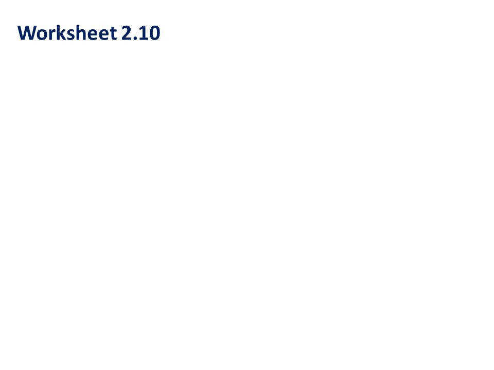 5 Worksheet 2 10
