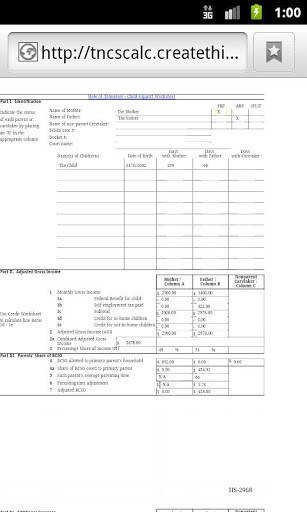 Tn Child Support Worksheet