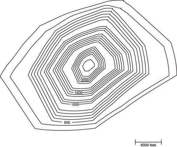 simple topographic map model