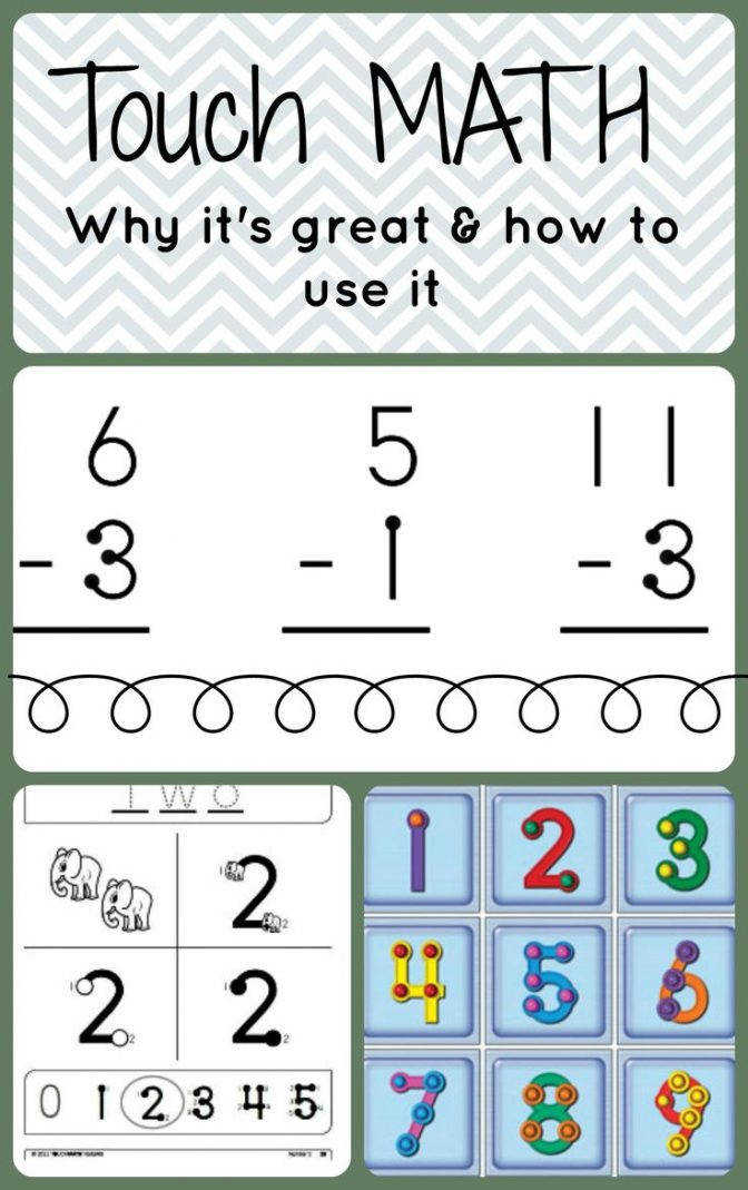 25 Best Touch Math Ideas Pinterest Preschool Number Multiplication Worksheets 6ae471e60b62f1b7b2ca e656a School Levels Autism Clas