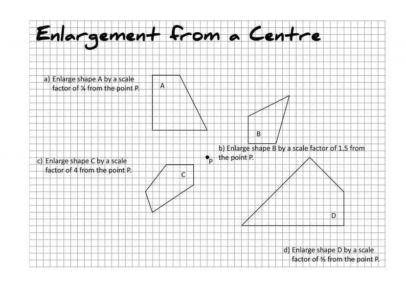 Maths Resources Taylorda01 Enlargement From A Centre 2 P Transformation Maths Worksheets Worksheet