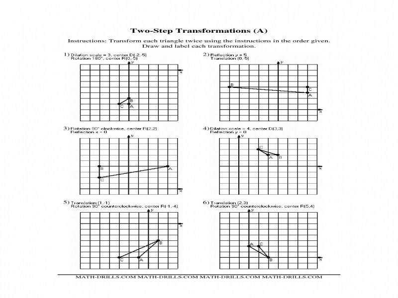 Geometry Transformations Worksheet Worksheets