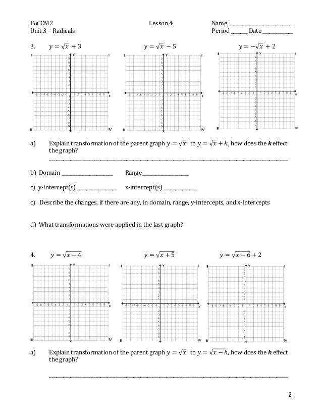 quadratic transformations worksheet collection of parent functions worksheet parent function worksheet exploring transformations quadratic transformations