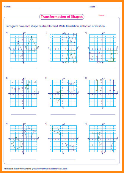 transformations worksheet transformation worksheet pre munity printables worksheets transformations