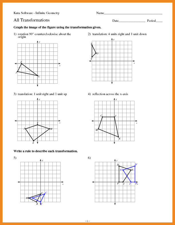 transformations worksheet geometry transformations practice worksheet transformations worksheet