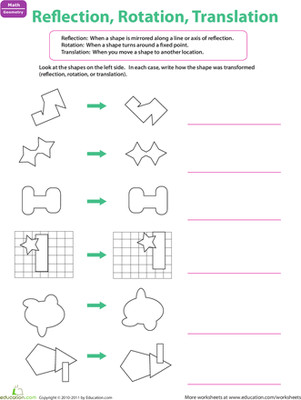 Challenge your child to find out how on this geometry worksheet Through labeling each transformation kids more fortable identifying the differences