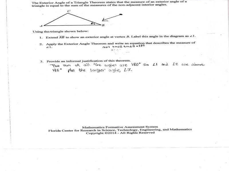Gallery In Website Worksheet Triangle Sum And Exterior Angle