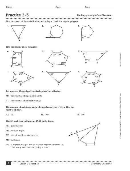 Triangle Angle Sum Theorem Worksheet ABITLIKETHIS