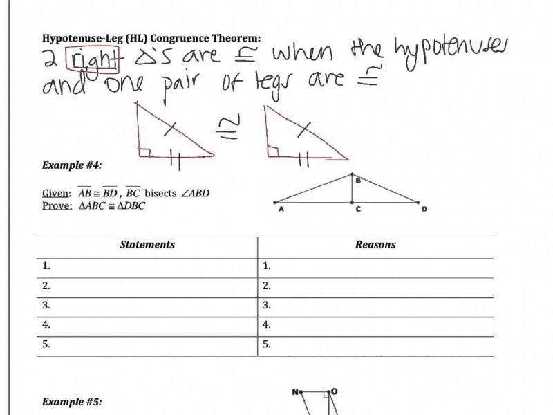Triangle Congruence Worksheet Answers  Homeschooldressage.com