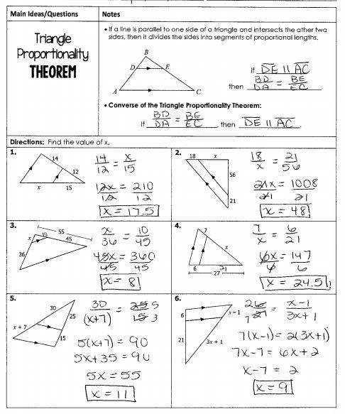 Triangle Proportionality Theorem