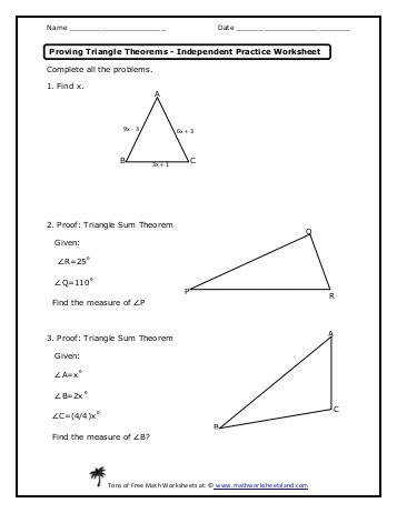 Triangle inequality theorem worksheet five pack math Triangle inequalities worksheet