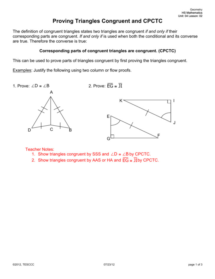 Medium Size of Worksheet triangle Proofs Practice Proofs Worksheet Solving Congruent Triangles Worksheet Cpct In