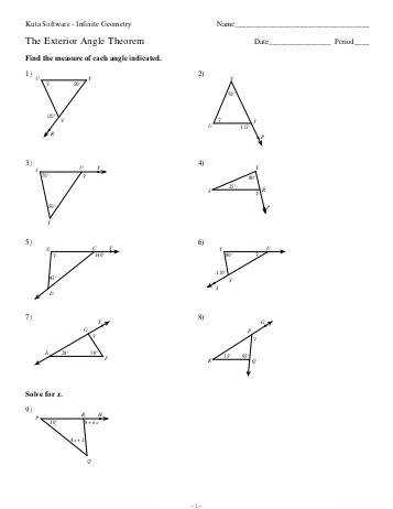 worksheet triangle sum and project awesome exterior angle theorem worksheet
