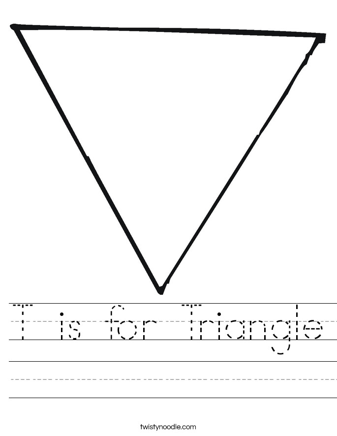 T is for Triangle Worksheet