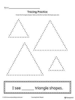 Geometric Shape Counting and Tracing Triangle