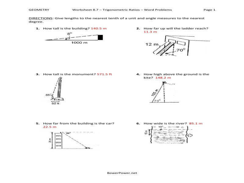 Trigonometry Ratios Worksheet Long Division Without Remainders