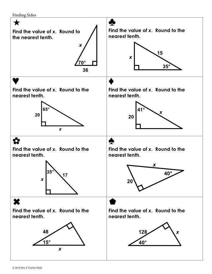holt geometry 8 2 problem solving trigonometric ratios