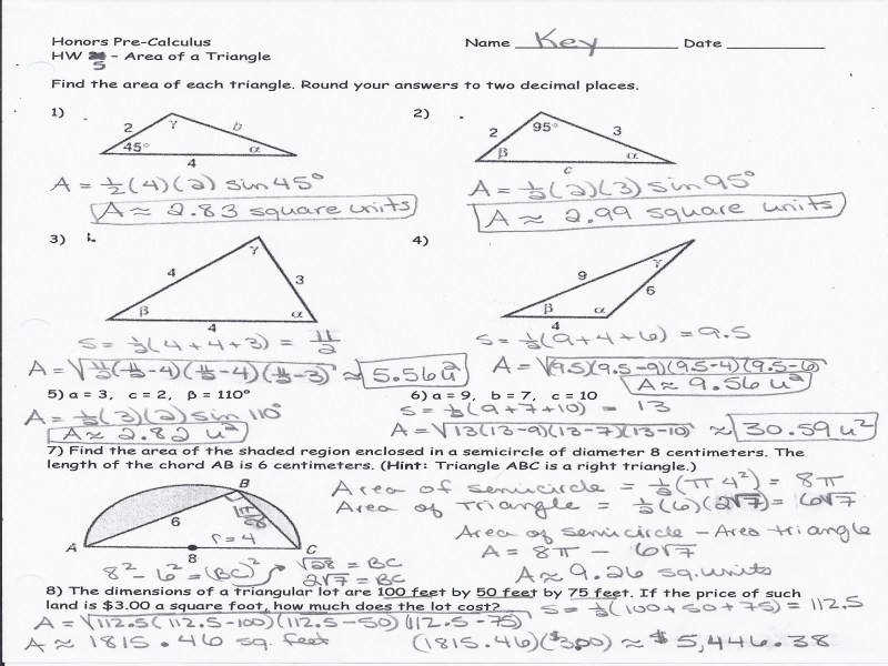 Trigonometry Worksheets Homeschooldressage