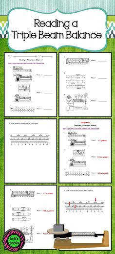 Mass and Using a Triple Beam Balance Science for Secondary Grades Biology Chemistry Physics and more Pinterest