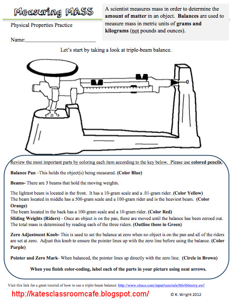 Triple Beam Balance Worksheet Problems