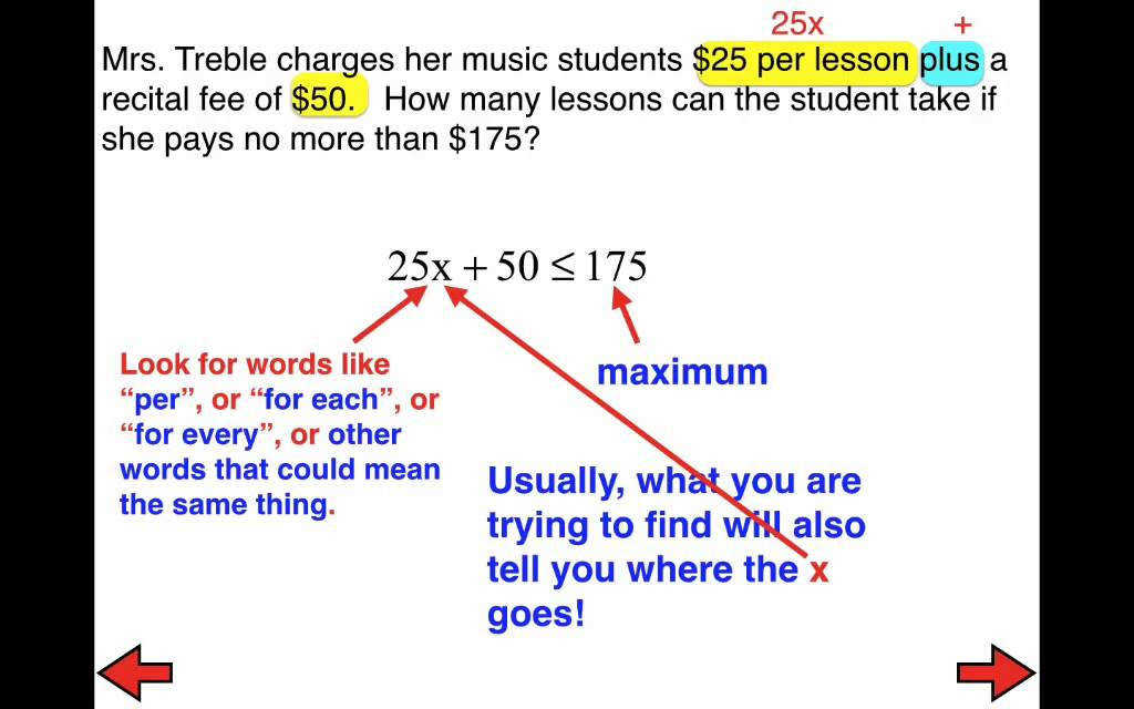 29 FLIPPED Solving Word Problems with Two Step Inequalities