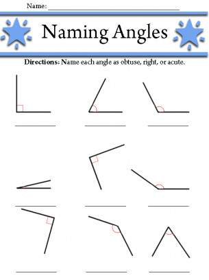 Identifying Right Obtuse and Acute Angles 2 pages Subject