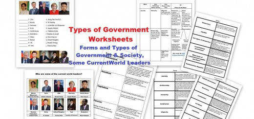 Types of Governments Worksheets – World Leaders Currently Free