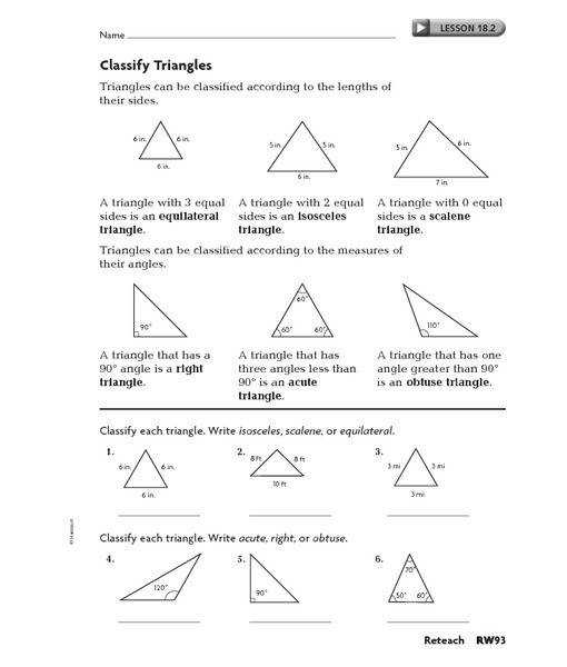 1000 ideas about different types of triangles on pinterest practice identifying classifying or describing the equilateral Worksheets