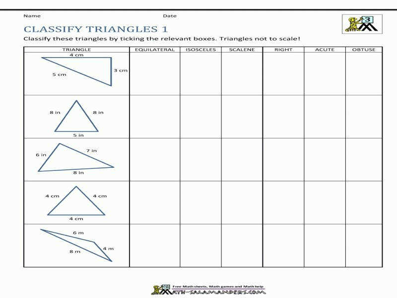 Types Of Triangles Worksheet Homeschooldressage Com