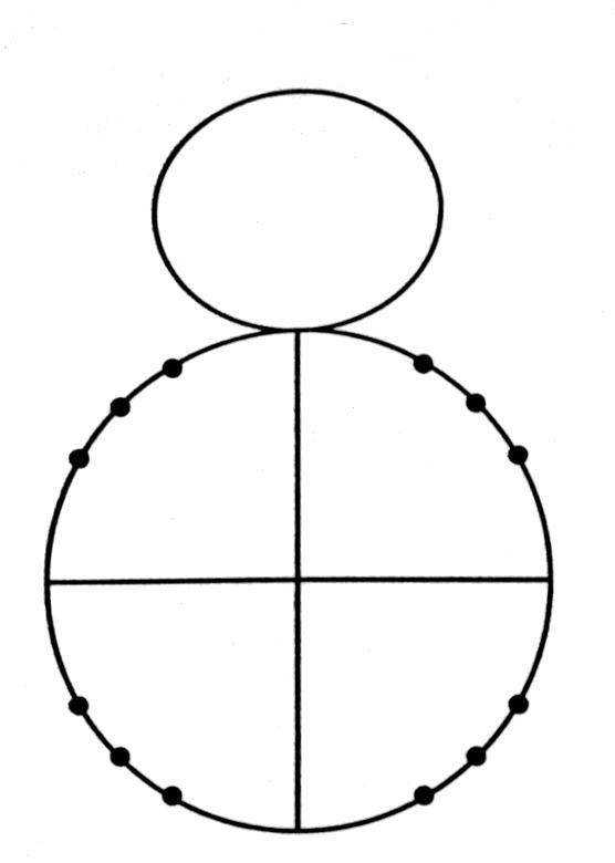 You are to label the sixteen points on the unit circle with the radian measure inside the circle and the coordinates of