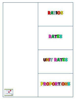 Ratios Unit Rates Proportions from JustBePositive on TeachersNotebook 3 pages